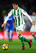 SEVILLE, SPAIN - NOVEMBER 03:  Cristian Tello of Real Betis Balompie in action during the La Liga match between Real Betis and Getafe at Estadio Benito Villamarin  on November 3, 2017 in Seville, .  (Photo by Aitor Alcalde Colomer/Getty Images)