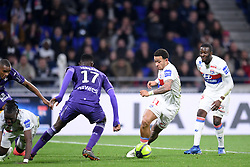 April 1, 2018 - Lyon, France - 11 MEMPHIS DEPAY (OL) - 28 TANGUY NDOMBELE  (Credit Image: © Panoramic via ZUMA Press)