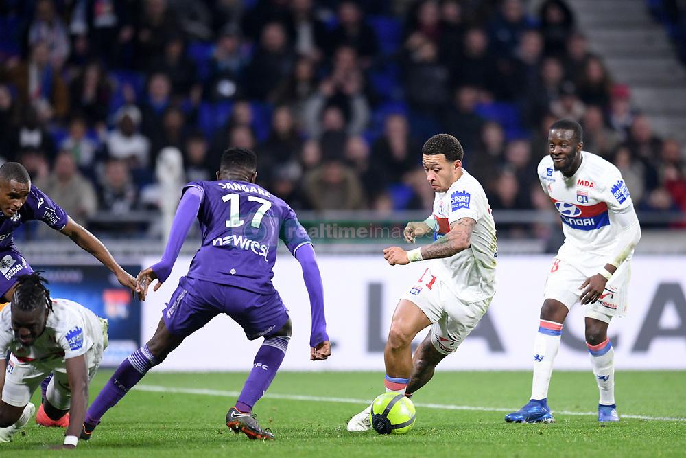 April 1, 2018 - Lyon, France - 11 MEMPHIS DEPAY (OL) - 28 TANGUY NDOMBELE  (Credit Image: © Panoramic via ZUMA Press)