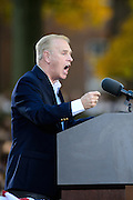 Former Ohio Governor Ted Strickland speaks to the crowd gathered on Ohio University's College Green for a Barack Obama Grassroots Event in Athens, Ohio, on Wednesday, October 17, 2012.  (© 2012 Brien Vincent)