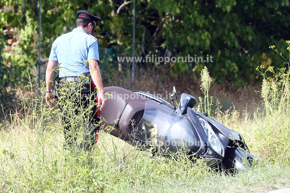 INCIDENTE MORTALE CARABINIERE SANTO DE ROSA A FORMIGNANA VIA RUFFETTA