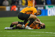 Joao Moutinho of Wolverhampton Wanderers during the Premier League match between Wolverhampton Wanderers and Aston Villa at Molineux, Wolverhampton, England on 10 November 2019.