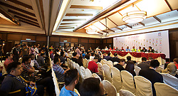 KUALA LUMPUR, MALAYSIA - Wednesday, July 22, 2015: A Liverpool press conference at the Saujana Hotel on day ten of the club's preseason tour. (Pic by David Rawcliffe/Propaganda)