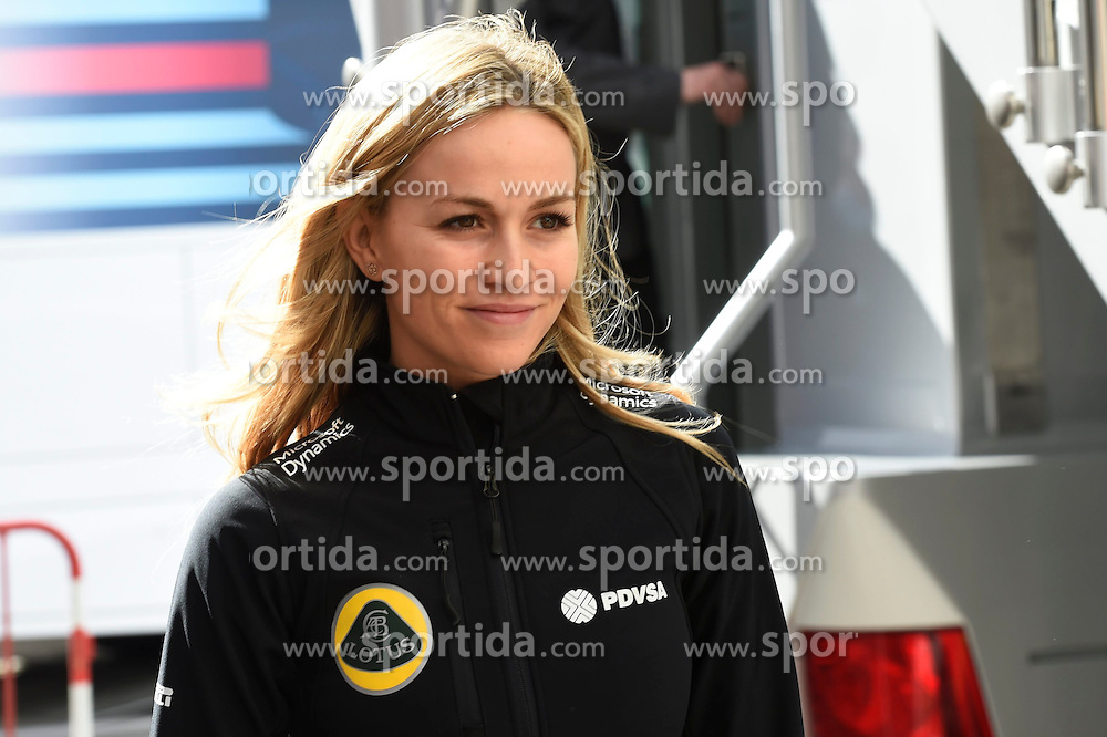 27.02.2015, Circuit de Catalunya, Barcelona, ESP, FIA, Formel 1, Testfahrten, Barcelona, Tag 2, im Bild Carmen Jorda (ESP) Lotus F1 Development Driver // during the Formula One Testdrives, day two at the Circuit de Catalunya in Barcelona, Spain on 2015/02/27. EXPA Pictures &copy; 2015, PhotoCredit: EXPA/ Sutton Images/ Mark Images<br /> <br /> *****ATTENTION - for AUT, SLO, CRO, SRB, BIH, MAZ only*****