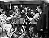 1962 A commercial film being filmed at Fitzpatrick's Shoe Shop, Grafton Street Dublin 2.