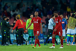 NAPLES, ITALY - Wednesday, October 3, 2018: Liverpool's Daniel Sturridge looks dejected as his side lose 1-0 to Napoli during the UEFA Champions League Group C match between S.S.C. Napoli and Liverpool FC at Stadio San Paolo. (Pic by David Rawcliffe/Propaganda)