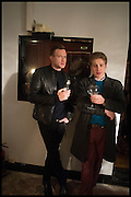 MARTIN AHEARNE; ROLO MONTGOMERY KONIT-BROCK, Opening of the Trouble Club., Lexington St. Soho London. 6 November 2014