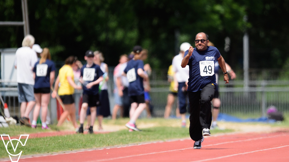 Metro Blind Sport's 2017 Athletics Open held at Mile End Stadium.  100m.  Saba Sivaseelan<br /> <br /> Picture: Chris Vaughan Photography for Metro Blind Sport<br /> Date: June 17, 2017