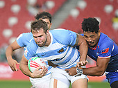 Apr 14, 2019-Rugby-HSBC Singapore Sevens-Fifth Place Semifinal-Argentina vs Samoa