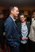 MATTHEW SLOTOVER; AMANDA SHARP, Dinner to celebrate the opening of Pace London at  members club 6 Burlington Gdns. The dinner followed the Private View of the exhibition Rothko/Sugimoto: Dark Paintings and Seascapes.