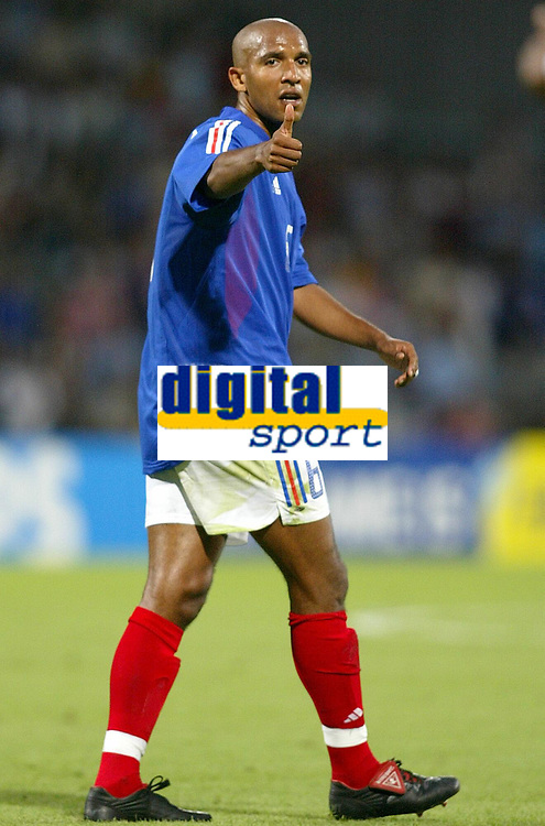 FOOTBALL - CONFEDERATIONS CUP 2003 - GROUP A - 030618 - FRANKRIKE v COLOMBIA - OLIVIER DACOURT (FRA) - PHOTO JEAN-MARIE HERVIO / DIGITALSPORT