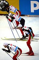 Langrenn<br /> Sprint<br /> FIS World Cup Verdenscup<br /> Kuusamo<br /> 25.11.2006<br /> Foto: Gepa/Digitalsport<br /> NORWAY ONLY<br /> <br /> Øystein Pettersen (NOR), Trond Iversen (NOR), Andrew Newell (USA) und Johan Kjølstad (NOR)