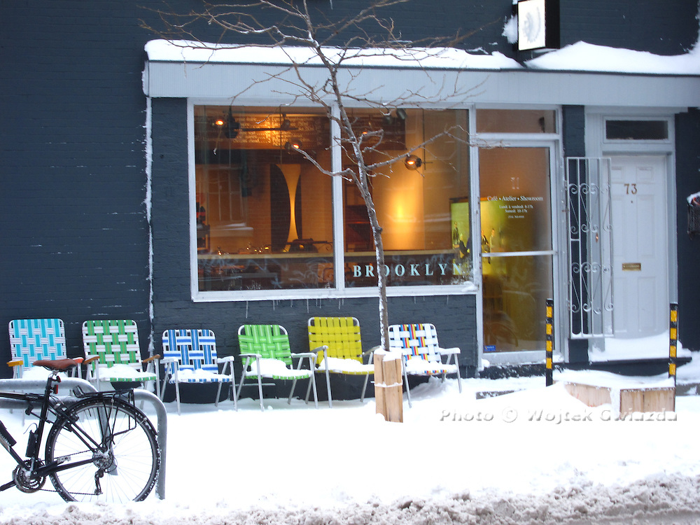 Ready for spring on rue Saint-Viateur in Montreal, February 20, 2013.
