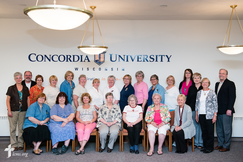 Group portrait photograph from the LCMS Parish Nurse District Representatives Meeting at Concordia University Wisconsin in Mequon, Wis., on Tuesday, May 27, 2014. LCMS Communications/Erik M. Lunsford