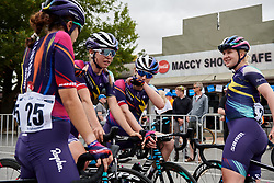 Ella Harris (NZL) talks about how the stage played out on Stage 1 of 2020 Santos Women's Tour Down Under, a 116.3 km road race from Hahndorf to Macclesfield, Australia on January 16, 2020. Photo by Sean Robinson/velofocus.com