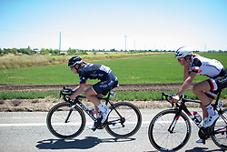 Julie Leth (DEN) of Wiggle High5 Cycling Team keeps the pace high at the front during Stage 1 of the Amgen Tour of California - a 124 km road race, starting and finishing in Elk Grove on May 17, 2018, in California, United States. (Photo by Balint Hamvas/Velofocus.com)