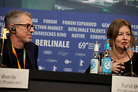 Producer Turid Øversveen at the press conference for the film Out Stealing Horses (Ut Og Stjæle Hester) at the 69th Berlinale International Film Festival, on Saturday 9th February 2019, Hotel Grand Hyatt, Berlin, Germany.