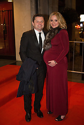 BT Sport Relief Ball Arrivals. (L-R) Chris Hollins and Sarah Alexander attend the BT Sport Relief Ball at The Grosvenor House Hotel. The Grosvenor House Hotel, London, United Kingdom. Wednesday, 26th March 2014. Picture by Daniel Leal-Olivas / i-Images