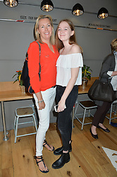 Left to right, TIGGY KENNEDY and her daughter STELLA at a party to celebrate the launch of Top Dog at 48 Frith Street, Soho, London on 27th May 2015