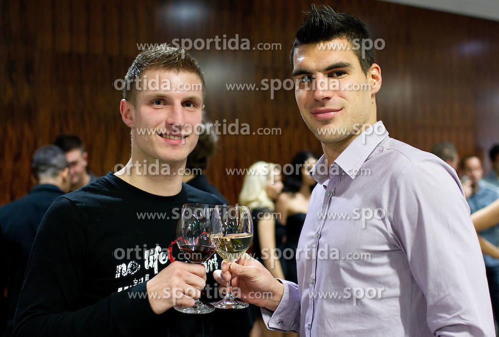 during the Slovenian men's football player of the year 2011 award at the SPINS XI  Nogometna Gala, on November 24, 2011 in Hotel Mons, Ljubljana, Slovenia. (Photo By Vid Ponikvar / Sportida.com)