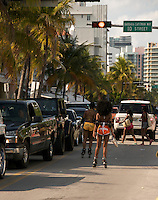 Girls on rolllers during Miami Beach Urban Weekend 2008. The Miami Beach Urban weekend in the largest Urban Festival in the World, that caters toward the Hip Hop Generation. Over 300.000 participants make the annual trek to South Beach for 4 days full of fun, food, festivities, entertainment, music, and more.