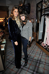 Left to right, YASMIN LE BON and GELA NASH-TAYLOR at the Juicy Couture children's tea party in aid of Mothers 4 Children held at the Juicy Couture Store, Bruton Street, London on2nd December 2009.