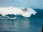 EXCLUSIVE - Pictures capture moment a JET SKI lands on surfer's head