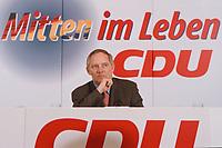 10.01.1999, Deutschland/Bonn:<br /> Wolfagng Sch&auml;uble, CDU Parteivorsitzender, Pressekonferenz nach der Klausurtagung des CDU-Bundesvorstandes, Konrad-Adenauer-Haus, Bonn<br /> IMAGE: 19990110-01/01-31<br /> KEYWORDS: Wolfgang Schaeuble