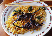fried scorpions in Bangkok