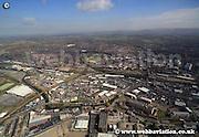 aerial photograph of Wigan  Lancashire   © Jonathan Webb - www.webbaviation.de  2013