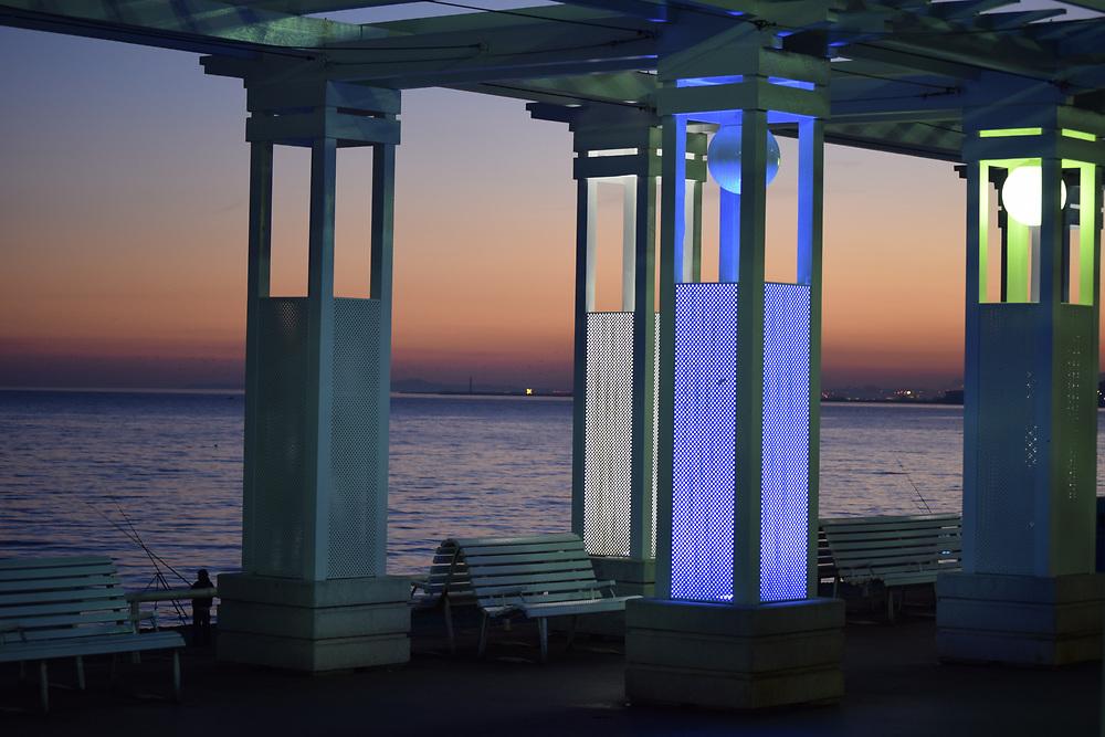 Promenade Des Anglais at Sunset under Pagoda shade