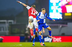 \b20\ challenges for the header with Jimmy Dunne of Fleetwood Town- Mandatory by-line: Dougie Allward/JMP - 25/01/2020 - FOOTBALL - Memorial Stadium - Bristol, England - Bristol Rovers v Fleetwood Town - Sky Bet League One