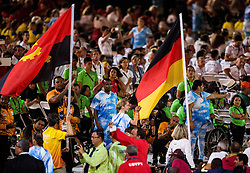 Flag of Germany at Closing Ceremony during Day 11 of the Rio 2016 Summer Paralympics Games on September 18, 2016 in Maracanã Stadium, Rio de Janeiro, Brazil. Photo by Vid Ponikvar / Sportida