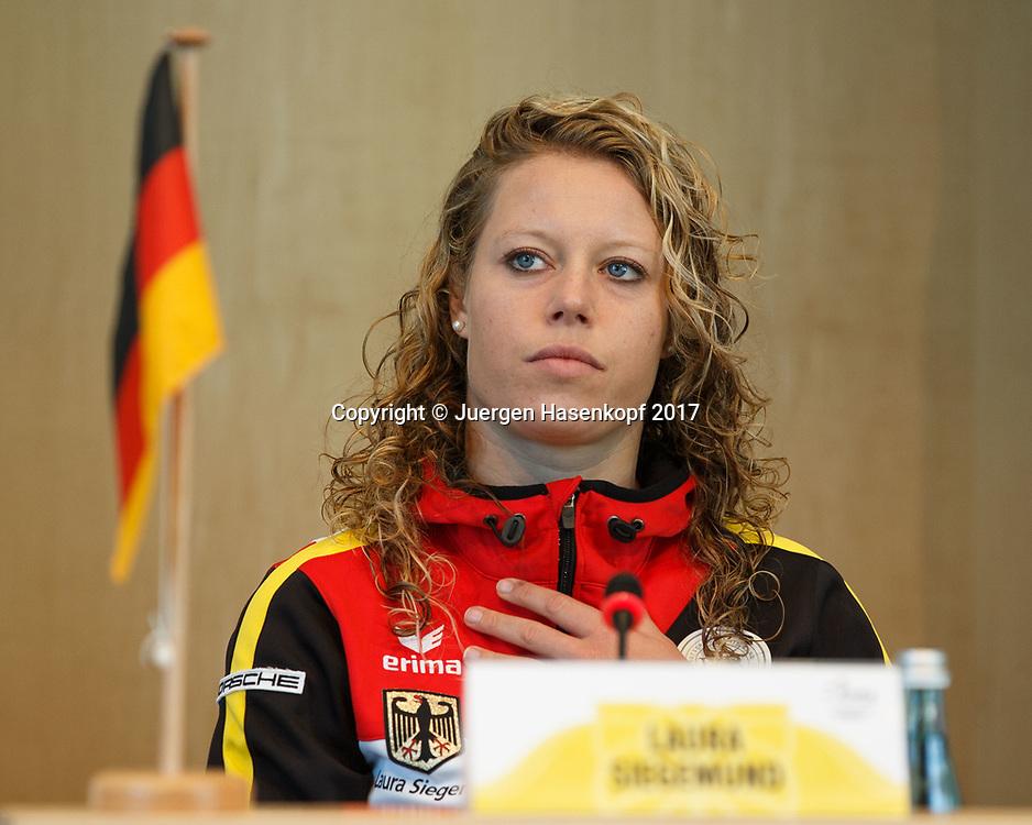 Fed Cup GER-UKR, Deutschland - Ukraine, Auslosung im Rathaus Stuttgart, <br /> LAURA SIEGEMUND (GER)