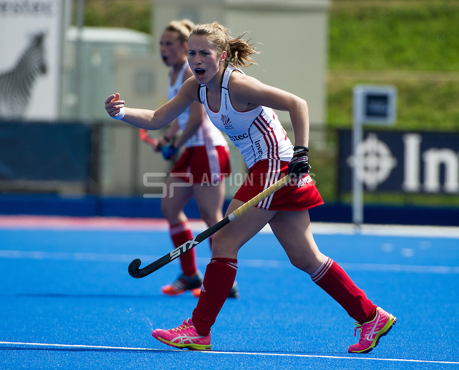 Great Britain's Shona McCallin. Great Britain v Japan - Schools Event, Lee Valley Hockey & Tennis Centre, London, UK on 27 April 2015. Photo: Simon Parker