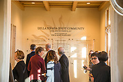 Dedication ceremony and dinner of the new Jesuit residence building, Della Strada. Inside the new Jesuit residence. (GU photo by Rajah Bose)