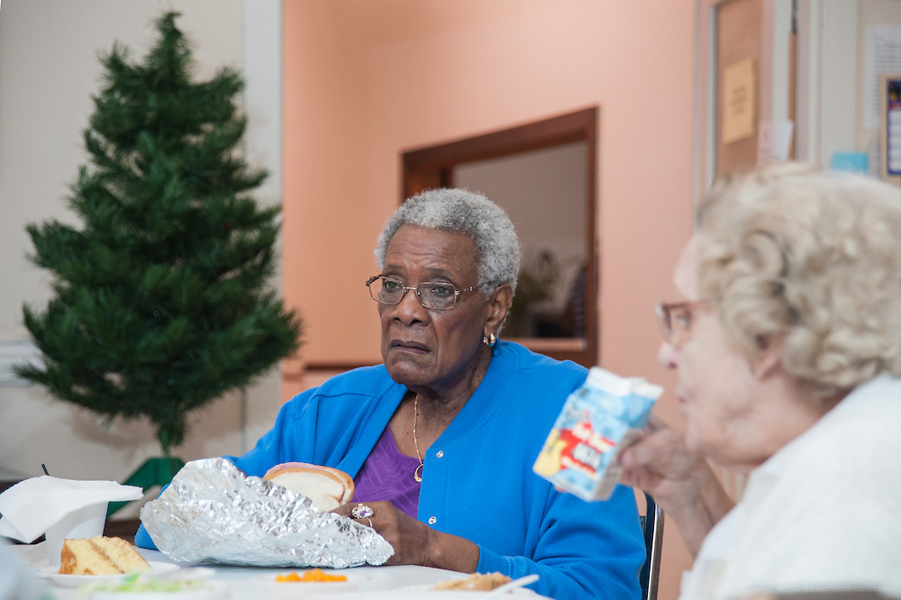 Seniors enjoy Highland Community Ministries' Shaffer Enrichment Center at Douglas Boulevard Christian Church, photographed Wednesday, Aug. 28, 2013 in Louisville, Ky. (Photo by Brian Bohannon)