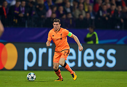 MARIBOR, SLOVENIA - Tuesday, October 17, 2017: Liverpool's James Milner during the UEFA Champions League Group E match between NK Maribor and Liverpool at the Stadion Ljudski vrt. (Pic by David Rawcliffe/Propaganda)