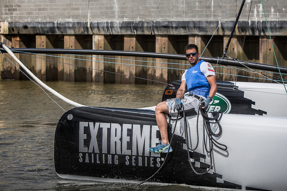 2015 Extreme Sailing Series - Act 5 - Hamburg.<br /> ESS Teams setting up before Day 3 Racing<br /> Credit Jesus Renedo.