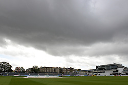 Rain clouds are seen overhead at Bristol County Ground - Mandatory byline: Dougie Allward/JMP - 07966386802 - 24/09/2015 - Cricket - County Ground -Bristol,England - Gloucestershire CCC v Glamorgan CCC - LV=County Championship - Division Two - Day Three