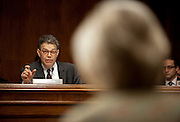 "Senator AL FRANKEN (D-MN) questions Cleta Mitchell, partner at Foley & Lardner, as she testifies before a Senate Judiciary Subcommittee hearing on Campaign Finance Reform and ""The Fair Elections Now Act: A Comprehensive Response to Citizens United."""