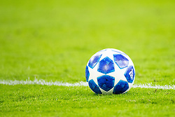 champions league ball, blue ball during the UEFA Champions League group E match between Ajax Amsterdam and AEK FC at the Johan Cruijff Arena on September 19, 2018 in Amsterdam, The Netherlands