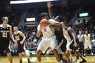 "Mississippi Rebels forward Sebastian Saiz (11) vs. Texas A&M Aggies forward Tavario Miller (4) at the C.M. ""Tad"" Smith Coliseum in Oxford, Miss. on Wednesday, February 4, 2015. (AP Photo/Oxford Eagle, Bruce Newman)"