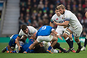 Twickenham, Surrey. UK.  Chris ROBSHAW, during the England vs Samoa, Autumn International. Old Mutual Wealth Series. RFU Stadium, Twickenham. Surrey, England.<br /> <br /> Saturday  25.11.17  <br /> <br /> [Mandatory Credit Peter SPURRIER/Intersport Images]