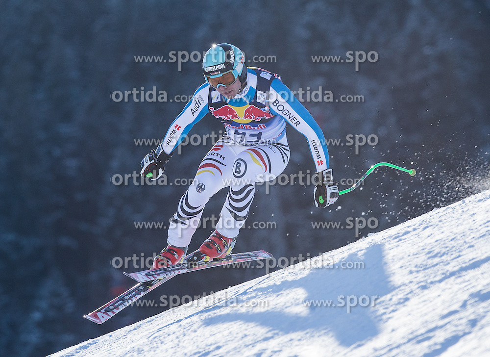 23.01.2013, Streif, Kitzbuehel, AUT, FIS Weltcup Ski Alpin, Abfahrt, Herren, 2. Training, im Bild Andreas Sander (GER) // Andreas Sander of Germany in action during 2nd practice of mens Downhill of the FIS Ski Alpine World Cup at the Streif course, Kitzbuehel, Austria on 2013/01/23. EXPA Pictures © 2013, PhotoCredit: EXPA/ Johann Groder