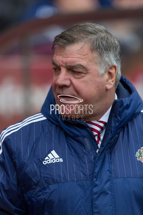 Sunderland's Manager Sam Allardyce during the Barclays Premier League match between Sunderland and Arsenal at the Stadium Of Light, Sunderland, England on 24 April 2016. Photo by George Ledger.