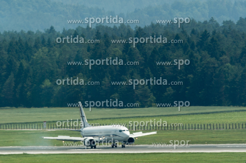 Landing of GainJet's aircraft with England National Football team onboard 1 day before EURO 2016 Qualifications match against Slovenia, on June 13, 2015 in Airport Joze Pucnik, Brnik - Ljubljana, Slovenia. Photo by Vid Ponikvar / Sportida