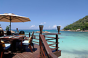 January 30, 2006 - A resort hotel deck at the Seychelles Islands. The Seychelles Islands archipelago, situated in the western Indian Ocean, consists of 115 islands with a total surface of 453 square kilometers spread over a large ocean area of over one million square kilometers. The central islands are granitic. Others are coral islands and some atolls are present as well.© Jean-Michel Clajot