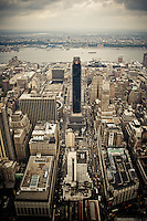 Penn Plaza in Midtown West seen from the Empire State Building, Manhattan, NY.