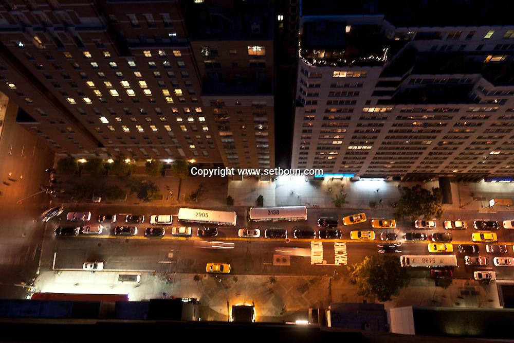 New york - elevated view on midtown and Murray hill  night  / le quartier de Murray hill et midtown vue d en haut la nuit